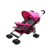 Wonder Buggy Dakota Deluxe Two Position Stroller With Canopy & Storage Basket - Pink