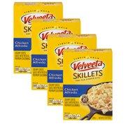 (4 Pack) Velveeta Cheesy Skillets Chicken Alfredo Dinner Kit, 12.5 oz Box