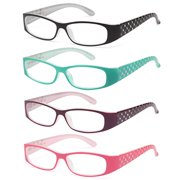 5e7a2176206d ALTEC VISION Pack of 4 Pattern Color Frame Readers Spring Hinge Reading  Glasses for Women +