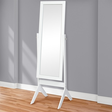 Cherry Oval Cheval Mirror (Best Choice Products 65
