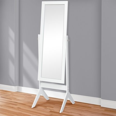 "Best Choice Products 65"" Full-Length Cheval Floor Mirror Bedroom Home Decor- White"