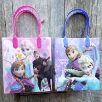 12 Frozen Party Favor Bags Birthday Candy Treat Favors Gifts Plastic Bolsas De Recuerdo