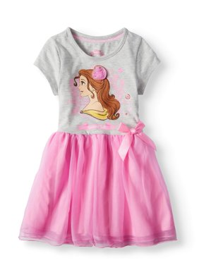 Belle Short Sleeve Tutu Dress (Little Girls)