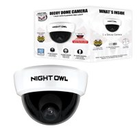 Night Owl Decoy Dome Camera with Flashing LED Deterrent Light