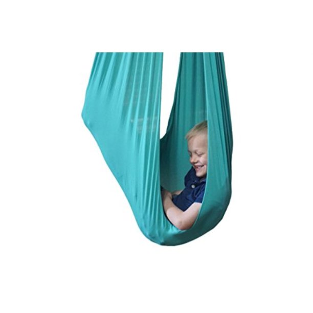 Indoor Therapy Swing for Kids with Special Needs by Sensory4u (Hardware Included) Snuggle Swing   Cuddle Hammock for Children with Autism, ADHD, Aspergers   Great for Sensory Integration (Aqua Color)