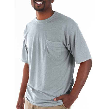 Gildan Big and tall men's classic short sleeve t-shirt with pocket (Gray Horse Shirt)