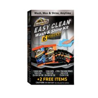 Armor All Easy Clean Wash & Shine Kit, 6 pcs, Car Wash and Wax Wipes