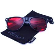 2a7599c349 Enimay Unisex Men s Women s Classic Wayfarer Style Sunglasses Gloss Finish