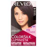 Revlon colorsilk luminista 107 violet black hair color, 1 application