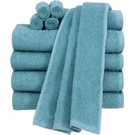 - Mainstays Value Terry Cotton Bath Towel Set - 10 Piece Set