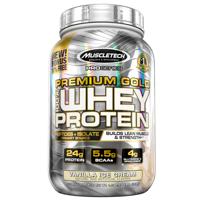 MuscleTech Pro Series Premium Gold 100% Whey Protein Powder, Vanilla Ice Cream, 24g Protein, 2.5 Lb