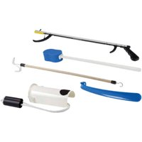 """Hip Kit with 26"""" Reacher, Contoured Sponge, Sock Aid, 18"""" Plastic Shoehorn and Dressing Stick"""
