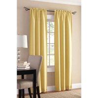 Mainstays 2-Pack Sailcloth Rod Pocket Curtain Panel Pair