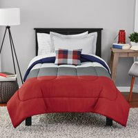 Mainstays Colorblock Bed in a Bag Bedding