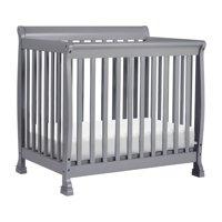 DaVinci Kalani 2-in-1 Convertible Mini Crib and Twin Bed in Grey Finish