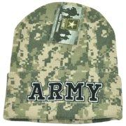 dc19b64b5764 US Army Strong United States Cuffed Digital Camo Knit Military Beanie  Winter Hat