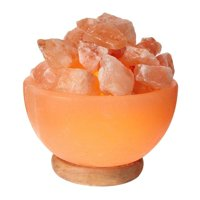 WBM 1326 Himalayan Glow Ionic Pink Salt Hand Carved Crystal Bowl Lamp