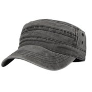 df71df8e016f0 WITHMOONS Cadet Caps Vintage Washed Cotton Army Hat For Unisex KZ40037  (Grey)