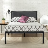"Zinus Korey 14"" Metal Platform Bed with Upholstered Headboard, Multiple Sizes"