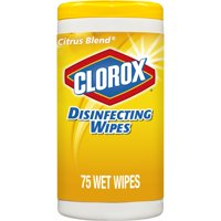Clorox Disinfecting Wipes, 75 ct, Bleach Free Cleaning Wipes - Crisp Lemon