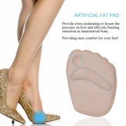 Thick Ball of Foot Cushions, 2 Pairs Anti-slip Gel Metatarsal Foot Pads for