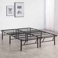 Modern Sleep Hercules Heavy-Duty 14-Inch Platform Metal Bed Frame   Mattress Foundation, Multiple Sizes