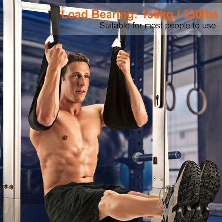 WALFRONT Sling AB Pull Up Straps Weight Lifting Door Hanging Gym Bar Abdominal Fitness Gym Home,Sling AB Straps, Fitness