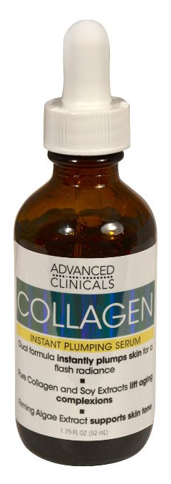 Advanced Clinicals Collagen Instant Plumping Serum for Fine Lines and Wrinkles. 1.75 Fl