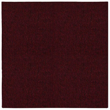 Saturn Collection Pet Friendly Indoor Outdoor Area Rugs Burgundy - 2'x8' Burgundy Leather Match 3 Piece