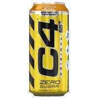 C4 Original Carbonated, Pre Workout + Energy Drink, 4-16oz Cans, Tropical Blast