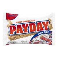 (2 Pack) Payday, Peanut Caramel Candy Bars Snack Size, 20.3 Oz