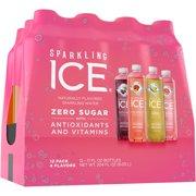 Sparkling Ice® Variety Pack, 17 Fl Oz, 12 Count (Black Cherry, Peach Nectarine, Coconut Pineapple, Pink Grapefruit)