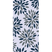 Waverly Inspirations Large Floral Navy Gray 100% Cotton Duck Fabric 45'' Wide, 180 Gsm