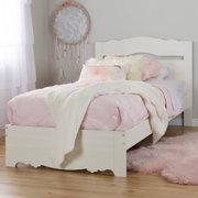 South Shore Lily Rose Twin Bed Set, White Wash
