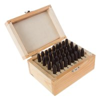 Letter and Number Steel Punch Stamp Set, 36 Piece Stamping Punch and Die with Wood or Plastic Storage Case By Stalwart (For Metal Keys Crafts Leather and More)
