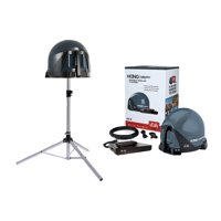 King VQ4550 Tailgater Bundle with BONUS Tripod - Portable Satellite TV Antenna, DISH Wally HD Receiver & TR1000 Tripod for RVs, Trucks, Tailgating, Camping and Outdoor