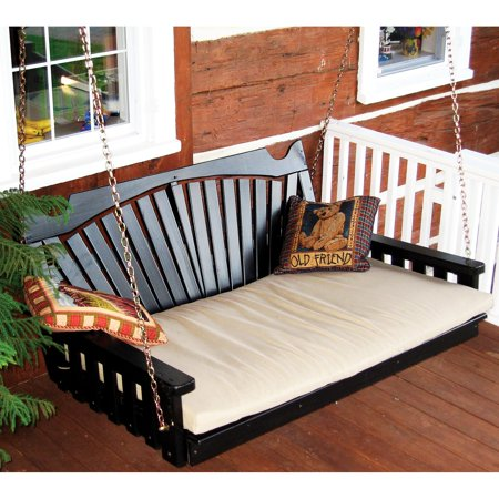 A & L Furniture Yellow Pine Fanback Swing Bed ()