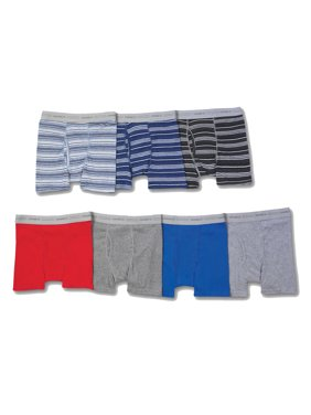 Hanes Boys' Sport Ringer Boxer Brief, 7 + 3 Bonus Pack