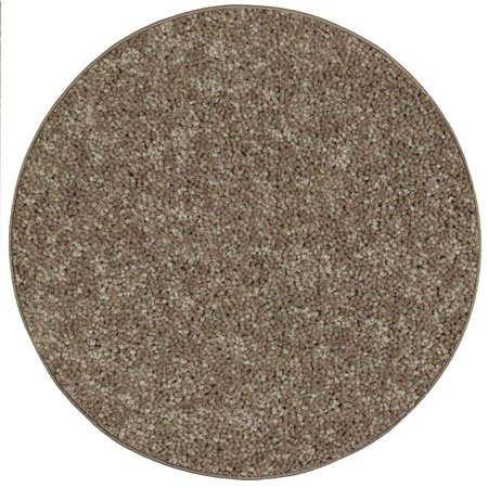 Home Queen Pet Friendly Area Rugs Brown - 7' Round