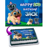 Puppy Dog Pals Edible Image Cake Topper Personalized Icing Sugar Paper A4 Sheet Edible Frosting Photo Cake 1/4 Edible Image for cake