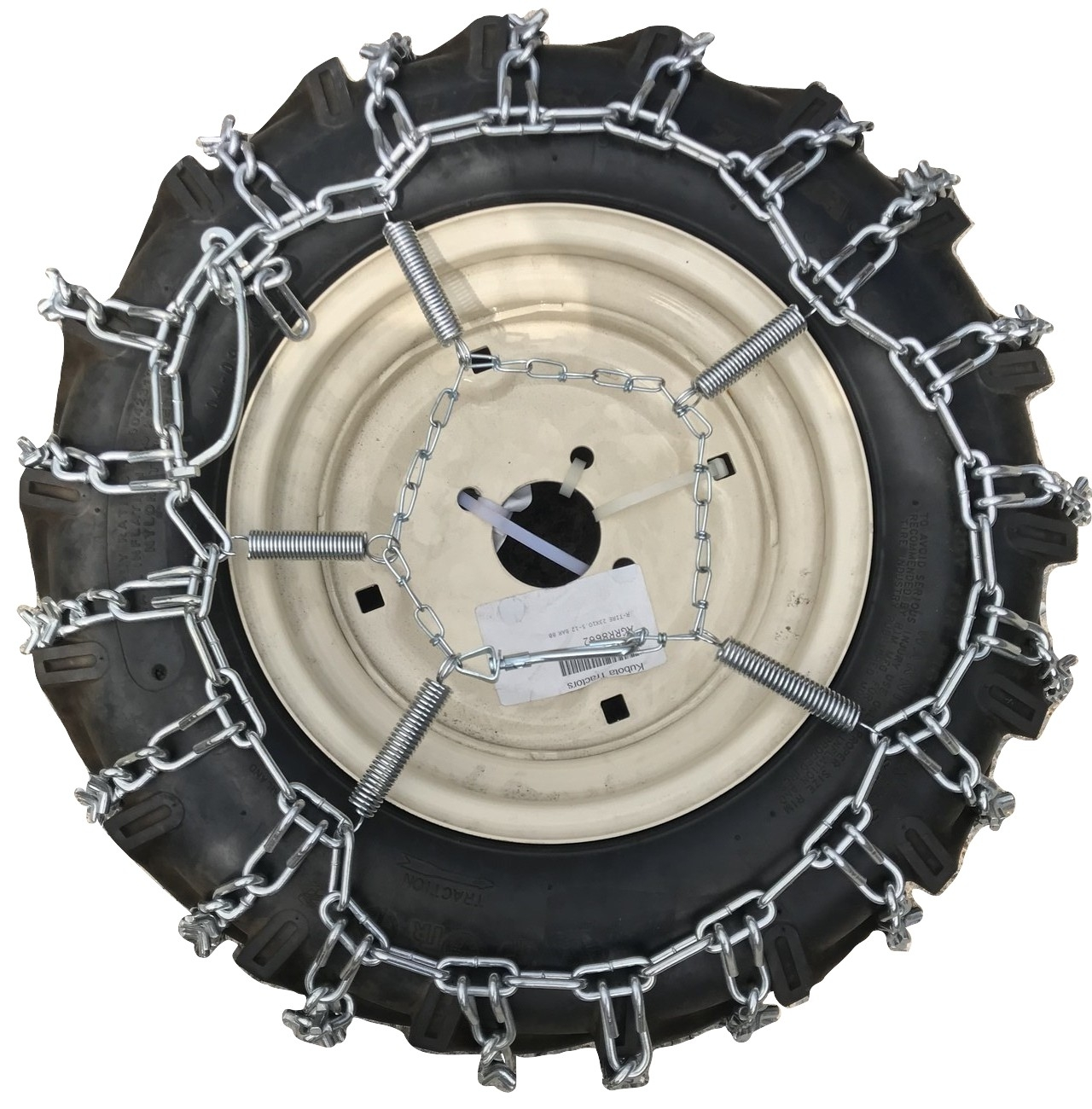 TireChain.com 23 X 7.50 X 12 23 7.50 12 Heavy Duty Tractor Tire Chains