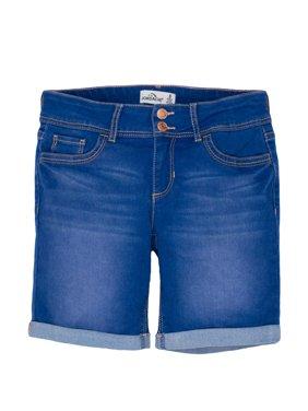 Rolled Cuff Denim Bermuda Short (Little Girls & Big Girls)
