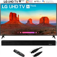 "LG 55UK6300 55"" UK6300 4K HDR SmartLED AI UHD TV w/ThinQ 2018 with Vivitar 24-Inch Wall Mountable Wireless Bluetooth Soundbar"