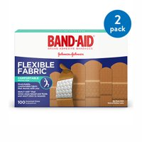 Band-Aid Brand Flexible Fabric Adhesive Bandages, Assorted, 100 ct