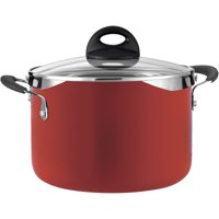 Tramontina Style 6-Quart Lock and Drain Pasta Pot, Red Enamel