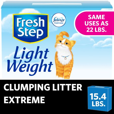 Fresh Step Lightweight Extreme Scented Litter with the Power of Febreze, Clumping Cat Litter, 15.4 Pounds ()