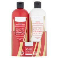 Equate Beauty Smoothing Keratin Shampoo & Conditioner Twin Pack, 25 fl oz, 2 pack