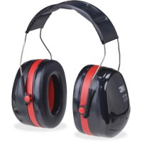 Peltor OPTIME 105 Twin Cup Earmuffs, Black, Red, 1 Each (Quantity)
