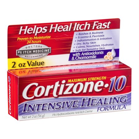Cortizone 10 Intensive Healing Anti-Itch Crème 2oz, Value