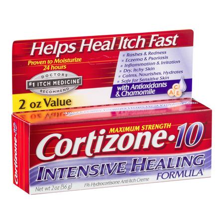 Cortizone 10 Intensive Healing Anti-Itch Crème 2oz, Value Size